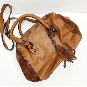 French Connection | Tan Cow Suede Boho Crossbody